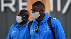 Roddy Estwick (left) is not concerned by Jason Holder's lack of runs (ECB handout/PA)