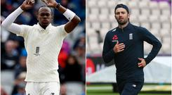 Jofra Archer and Mark Wood could play a Test together for the first time (Mark Kerton/Martin Rickett/PA)