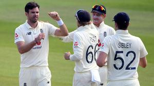 James Anderson made the breakthrough on the first morning (Stu Forster/PA)