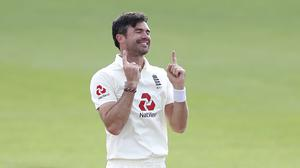 James Anderson celebrates his 600th Test victim (Alastair Grant/PA)