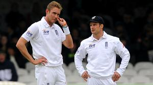 Andrew Strauss, right, cannot remember Stuart Broad bowling better than he is right now (Nigel French/PA)