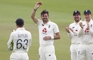James Anderson celebrates the magical 600th victim (Alastair Grant/PA)