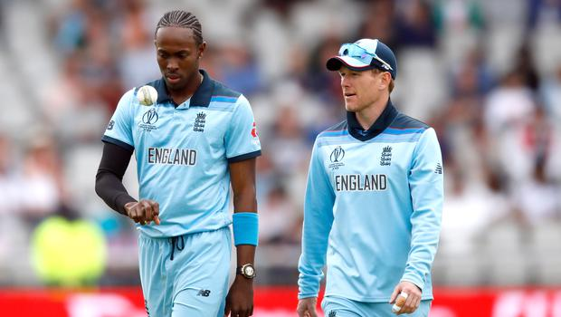Eoin Morgan, right, believes Jofra Archer's injury lay-off could be a blessing in disguise (Martin Rickett/PA)