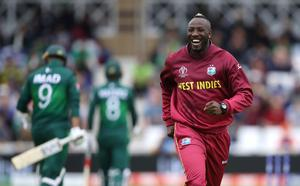 Andre Russell bowled fast for West Indies (Tim Goode/PA)