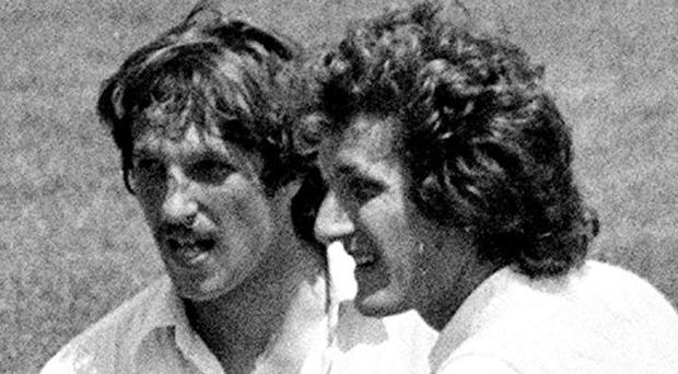 Sir Ian Botham, left, and Bob Willis were long-time friends, team-mates and colleagues (PA)