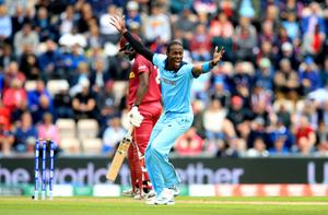 Jofra Archer took three wickets against the West Indies at last year's World Cup (PA)