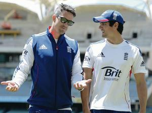 Kevin Pietersen (left) with England captain Alastair Cook, said to have played a key role in the batsman's England exit