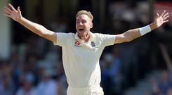 Stuart Broad is hoping for another memorable day at the Wanderers (John Walton/PA)