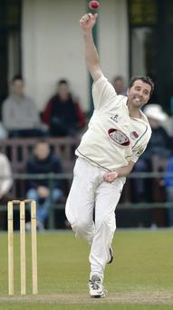 Kyle McCallan took five North Down wickets