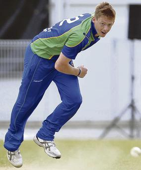 What a start: Craig Young took four wickets on Ireland debut against Scotland at Clontarf