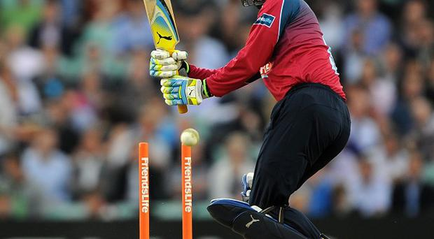 Former England wicketkeeper Geraint Jones hit a match-high 39 for PNG