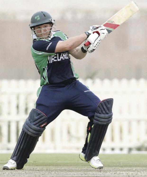 Runs aplenty: Gary Wilson on his way to a half century against the UAE