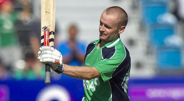 Captain William Porterfield, pictured, scored a brilliant century as Ireland thrashed the United States.