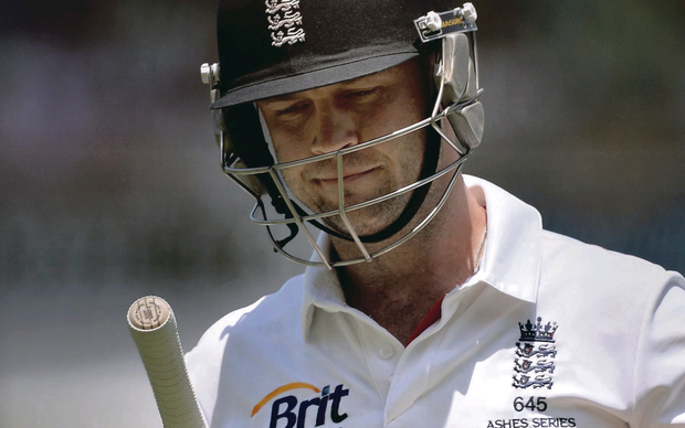 Caught out: Jonathan Trott was dismissed in his two innings in the first Test for scores of 10 and nine respectively