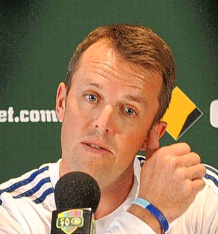 Graeme Swann tells a press conference in Melbourne he has played his last Test