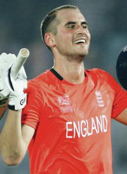 Record-breaker: Alex Hales scored England's first T20 ton