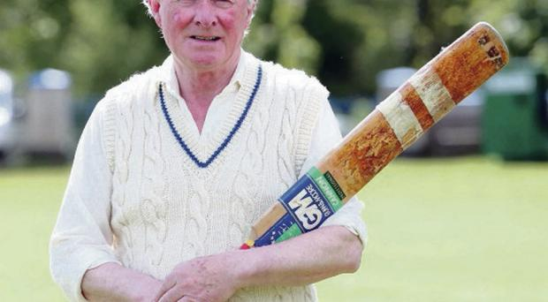 At the crease: John McCormick enjoyed a golden spell with Muckamore in the 1960s and '70s and speaks fondly of those memories