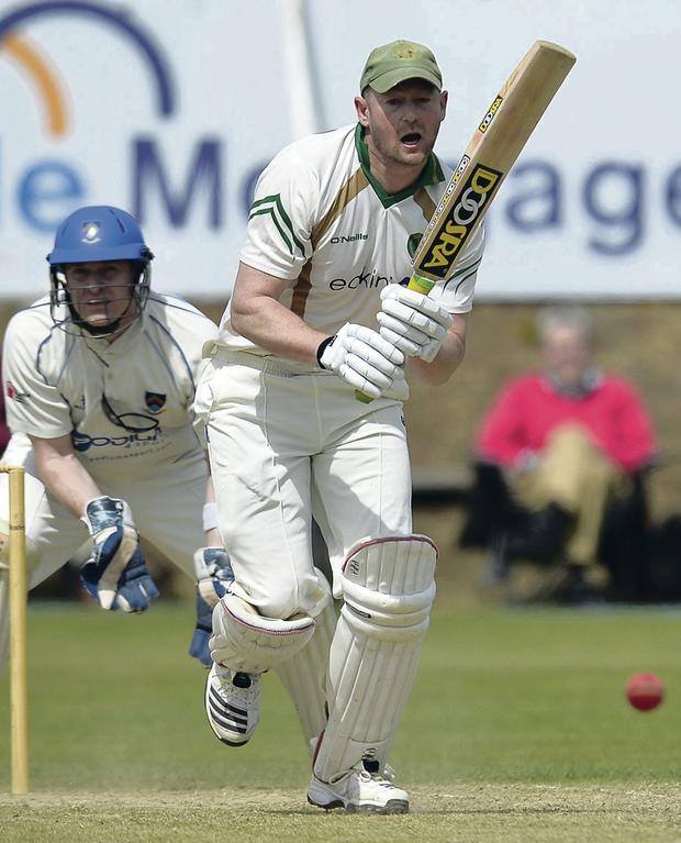 Influential: Andrew Sutherland hit 91 from 100 balls for North Down against Civil Service North