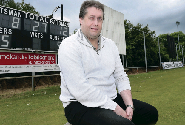 Looking ahead: Northern Cricket Union Chairman Andy Clement, at Lodge Road, Coleraine, has big plans for game