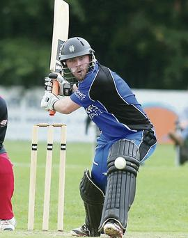 Hitting out: CIYMS batsman Nathan Burns goes on the attack