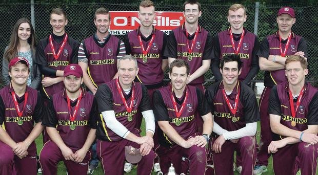 Champions: Bready are all smiles following their defeat of Waringstown yesterday
