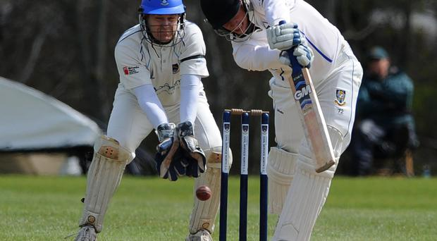Winning start: Rassie Van Der Dussen scored 38 as CIYMS amassed a total of 235