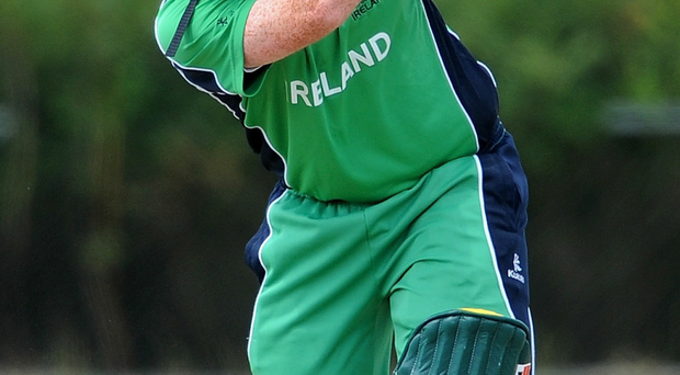 Andrew Poynter hit the last ball of the Leinster Lightning innings for six