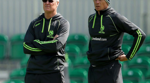 Looking up: new Ireland coach John Bracewell plans to keep the national side moving in the right direction