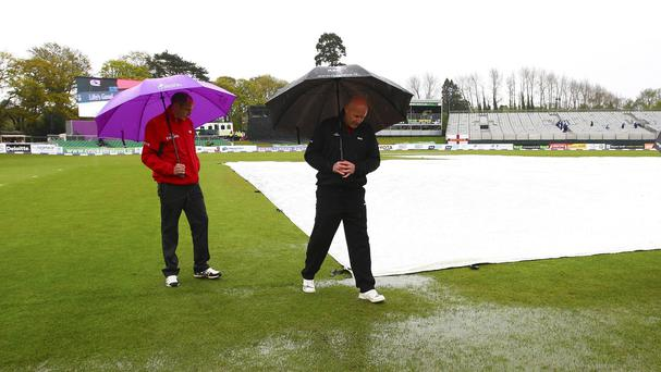 James Taylor's England were beaten by the rain in Dublin