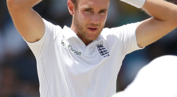 Criticised: Stuart Broad pulled out of a sponsor's event