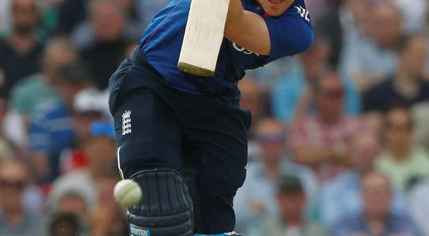 Eoin Morgan led a brave bid to chase 398 for five