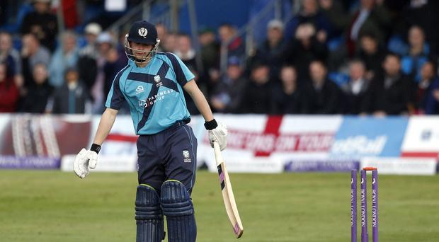 Matthew Cross scored 60 from 34 balls for Scotland in their T20 opener in Ireland
