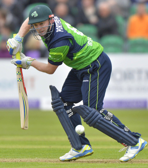 Captain's role: Ireland skipper William Porterfield will open the batting against UAE at Stormont today