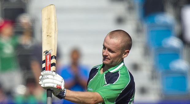 William Porterfield finished a dominant innings with two fours to hand Ireland the win