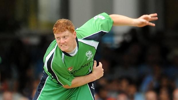 Kevin O'Brien claimed career-best T20 figures of three for eight as Ireland won