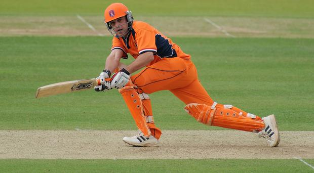 Peter Borren starred with the bat for Holland