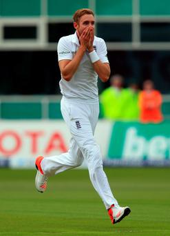 Simply Gr-eight: Stuart Broad grabbed an extraordinary eight wickets in an amazing spell as Australia were dismissed for a paltry 60 runs at Trent Bridge.