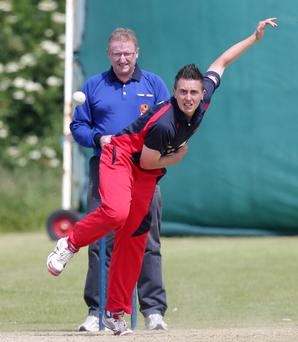In form: Waringstown skipper Lee Nelson took three wickets in the cup final