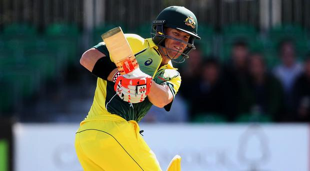 Australia's David Warner top-scored in a 23-run D/L win over Ireland