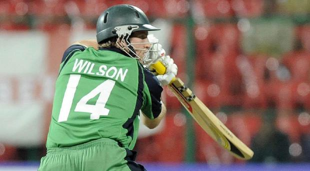 Gary Wilson made his 200th appearance for Ireland