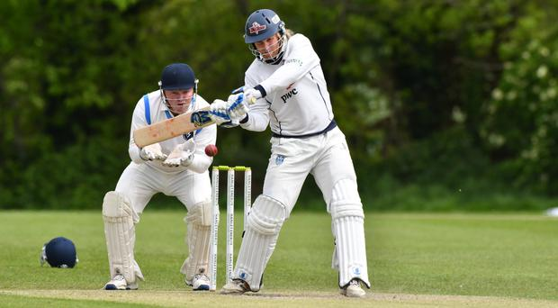 Hungry for runs: Jamie Holmes of the Northern Knights goes on the attack