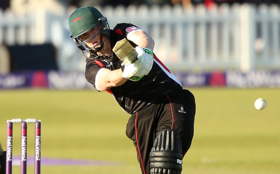 On fire: Kevin O'Brien was top scorer for Leicestershire