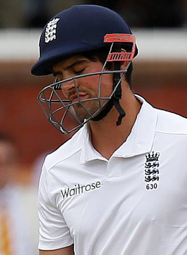Frustrated: Alastair Cook