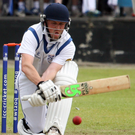 Hang in: Coleraine's Niall McDonnell batting through innings for 80 runs