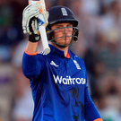 Bat man: Jason Roy's 65 runs put England on their way
