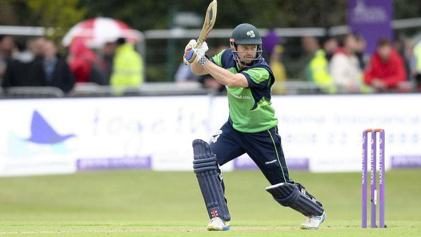 Ed Joyce helped Ireland take control against Hong Kong