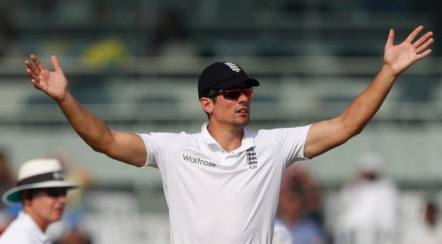 In a spin: Skipper Alastair Cook failed to inspire his England team in India