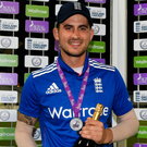 Sidelined: Alex Hales has been rocked by a broken hand