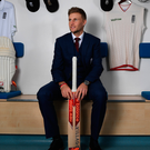 In the hotseat: New England Test captain Joe Root at Headingley yesterday