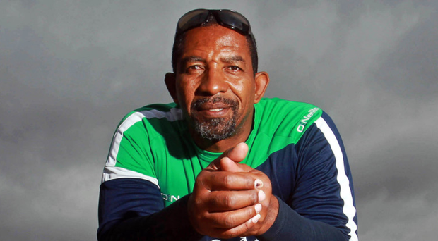 Inside track: Phil Simmons is set to battle it out with Ireland, the side he coached for eight years